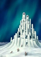 Arctic snowcastle by Astalo