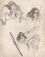 Tarzan Sketches 2 by liliribs