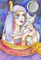 Priestess of the Moon Exlipse by Maria-van-Bruggen