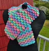 Pastel Handmade Crochet Scarf by HaleyGeorge
