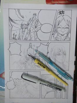 How I ink my manga by alexahuke