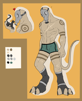 Full Character Auction - Gas Mask Beast - SOLD by ShadowInkAdopts