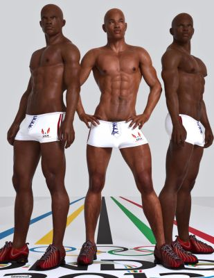 Fantasy Pin-up_U.S. Men's Track and Field Team by anteros70118