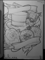 Steampunk hat, clock and co by Phlo-Ra