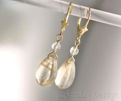*Venus Hair* Golden Rutilated Quartz earrings by Arctida