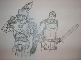 master chief an beowulf by tinamin1