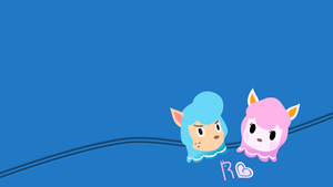 Reese and Cyrus Wallpaper by Schaafii
