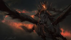 Black Pegasus by daRoz