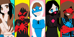 Lady Spiders by SpiderSilk15