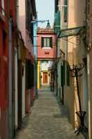 Burano Alleyway by cyrilBlack