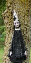 Hanging art doll by Woodedwoods
