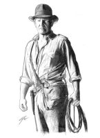 Indiana Jones sketch by GabeFarber