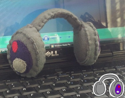 Headphones Plush by SillyArtist