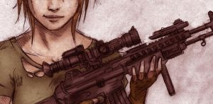 Gun Girl by Welhotar