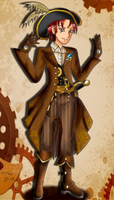 Steampunk Pirate airship captain .:Custom:. by Glass-Moon-Neko