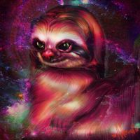 sloths in space pt.1 by Naomian