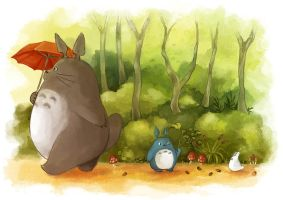 Totoro Stroll by amyanimalover