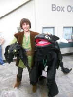 Hiccup n Toothless Otakon 2011 by Super3dcow