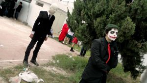 Slenderman and Joker cosplays by AgentDesings