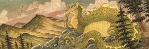 Rocky Mountain Dragon by RobbVision