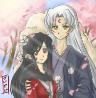 Akane and Sesshomaru by SESHOYASHAJUNIOR