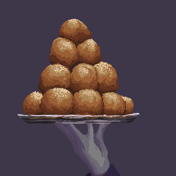 Croquembouche and Silver Platters by Sketch06