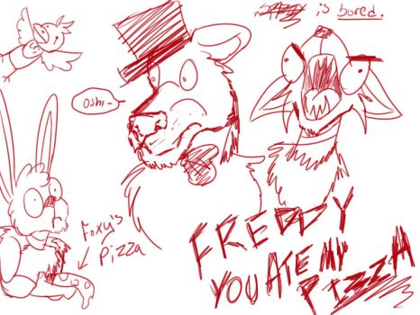 FNaF Fandom in a Nutshell-Livestream Doodle by Loves-To-Derp