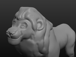 WIP 3D Raven attempt with mane by albinoraven666fanart