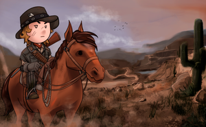 Red Dead Redemption chibi by EstebanRiveros