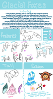 Species Guide || Glacial Foxes by xFeii