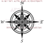 Celtic Compass Rose Design by WildSpiritWolf