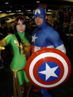 Captain America and Phoenix by Orrad