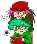 Kekekeke Rex and Weevil by roseannepage