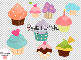 ~Beauty CupCakes PSD Files + Regalo by OriNicot