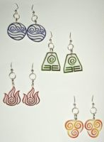 Avatar earrings by ykansaki