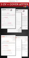 3 CV + Cover Letter  Templates by andre2886