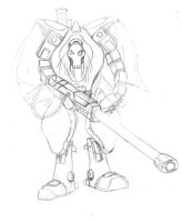 Necrid Mecha Soldier by eggoverlord