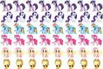 My Little Pony Mane 6 by SONICHEDGEHOG93