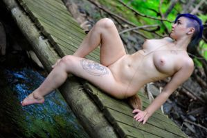purple fawn on bridge revisted by spudboy4498
