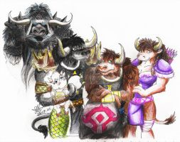 tauren family by stefi-heartlilly