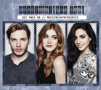 Pack Png: Shadowhunters Cast #445 by MockingjayResources