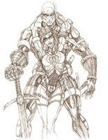 GIJOE Destro Baroness pencil by jamietyndall