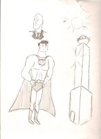 Superman sketches by wafische89