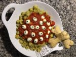 Eyeball Pasta with Bone Biscuits by Moonbeam13