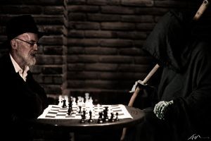 terry playing chess with death by valrevn