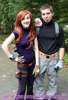 Kim Possible and Ron Stoppable Cosplay by BrittyDee