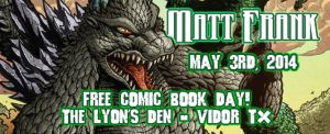Free Comic Book Day - tomorrow! by KaijuSamurai
