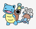 Squirtle Evo Line :D by Britterzbee