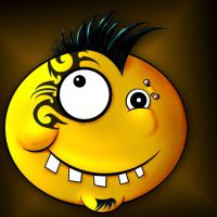 punk rock smiley by Sevenslashes
