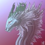 water dragon triple shade double lineart by illiarovanna